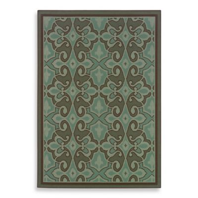 Oriental Weavers Montego 5-Foot 3-Inch x 7-Foot 6-Inch Rug in Damask Blue