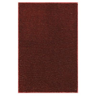 Mohawk Home Pinstripe 2-Foot 6-Inch x 3-Foot 10-Inch Rug in Madder Root