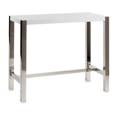 Moe's Home Collection Riva Bar Table in High-Gloss White