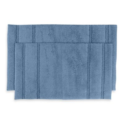 Majesty 2-Piece Bath Rug Set in Sky Blue
