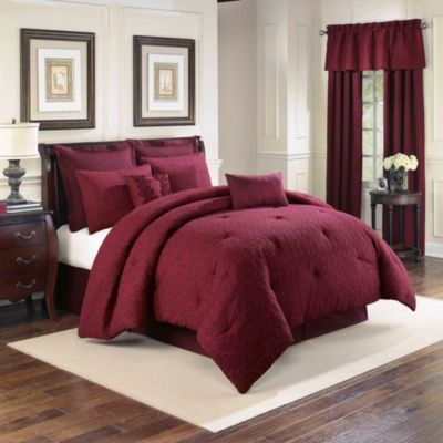 Sonoma 4-Piece Full Comforter Set in Merlot