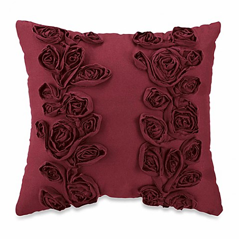 Sonoma Square Throw Pillow in Merlot