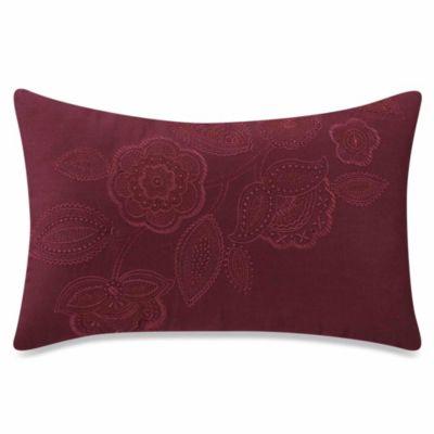 Sonoma Oblong Throw Pillow in Merlot