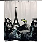 Paris Sights 70-Inch x 72-Inch Shower Curtain