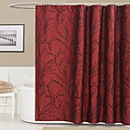 Flower Texture Shower Curtain in Red