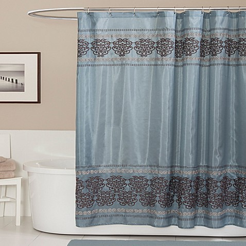 buy blue shower curtains fabric from bed bath beyond