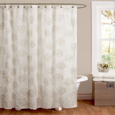 Samantha 72-Inch x 72-Inch Shower Curtain in White