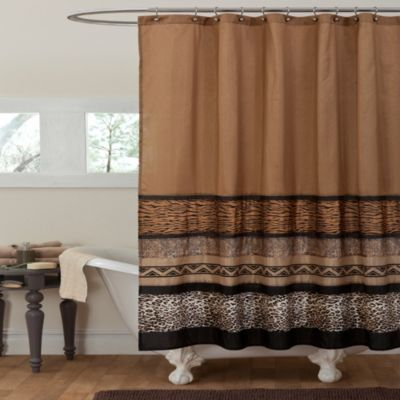 Tribal Dance 72-Inch x 72-Inch Shower Curtain in Brown
