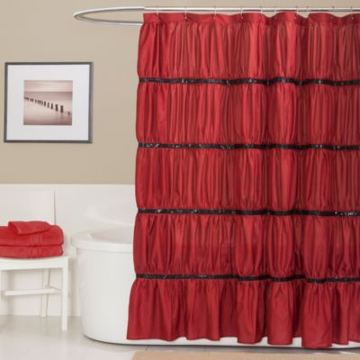 Twinkle 72-Inch x 72-Inch Shower Curtain in Red