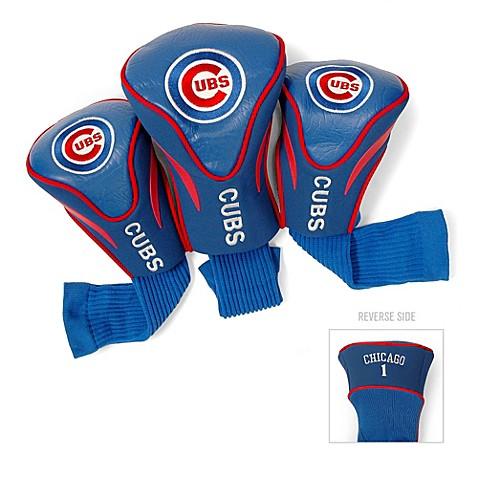 Buy Chicago Cubs 3 Pack Contoured Golf Club Headcovers