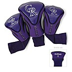 Colorado Rockies 3-Pack Contour Golf Club Headcovers