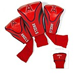 Los Angeles Angels 3-Pack Contour Golf Club Headcovers