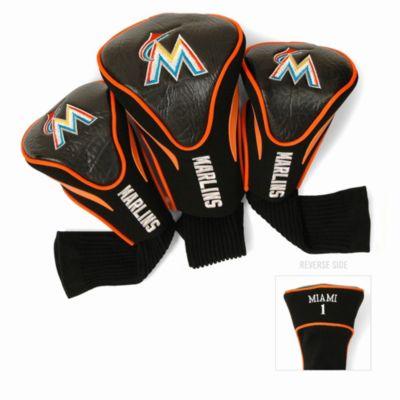 MLB Miami Marlins 3-Pack Contour Golf Club Headcovers