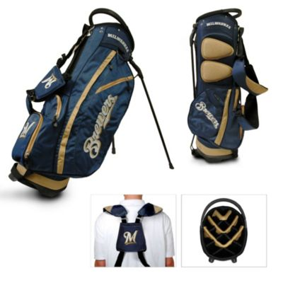MLB Milwaukee Brewers Fairway Stand Golf Bag