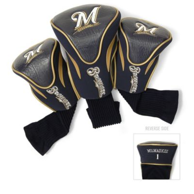 MLB Milwaukee Brewers 3-Pack Contour Golf Club Headcovers
