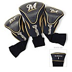 Milwaukee Brewers 3-Pack Golf Club Headcovers