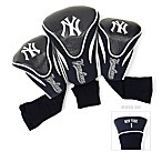 MLB New York Yankees 3-Pack Contour Golf Club Headcovers