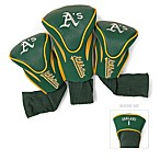 Oakland Athletics 3-Pack Contour Golf Club Headcovers