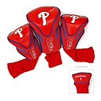 MLB Philadelphia Phillies 3-Pack Contour Golf Club Headcovers