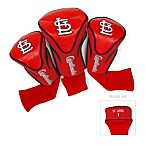 St Louis Cardinals 3-Pack Contour Golf Club Headcovers