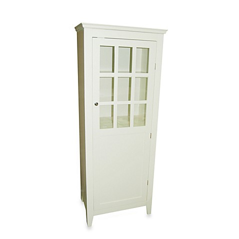 Window Pane Bathroom 1 Door Floor Cabinet In Antique White Bed Bath Beyond