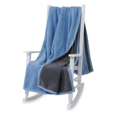 Downtown Company Twin Reversible Blanket in Grey/Blue