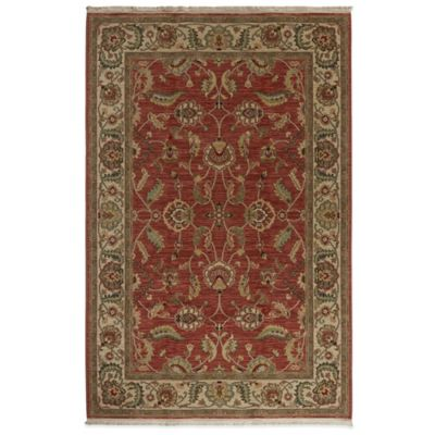 Karastan Ashara Agra 5-Foot 9-Inch x 9-Foot Rug in Red