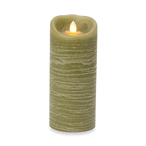 Candle Impressions® 3-Inch x 7-Inch Mirage Real Wax LED Pillar Candle in Green