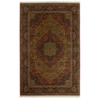 Karastan Original Medallion Kirman 5-Foot 9-Inch x 9-Foot Rug