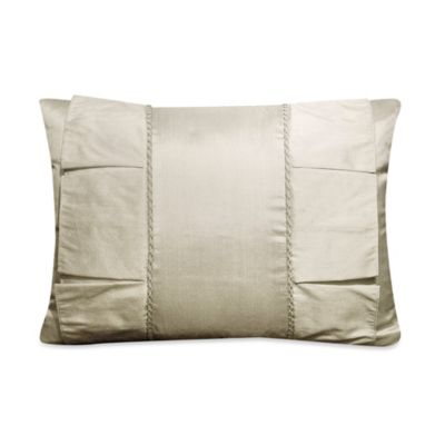 Rosetree Crystal Pleated Oblong Breakfast Toss Pillow