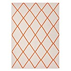 Maroc Amina Rug in Orange/White