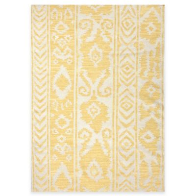 Jaipur Khalid Floral 2-Foot 6-Inch By 8-Foot Indoor Rug in White Butter