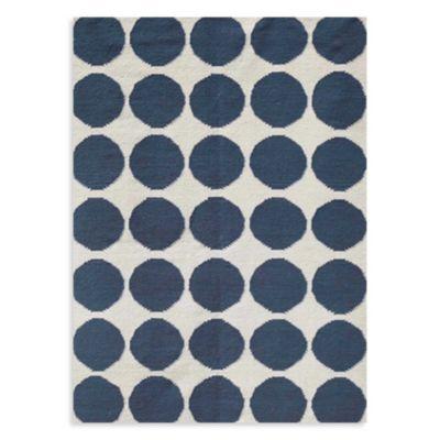 Jaipur Maroc Ghita 2-Foot 6-Inch x 8-Foot Rug in White/Blue
