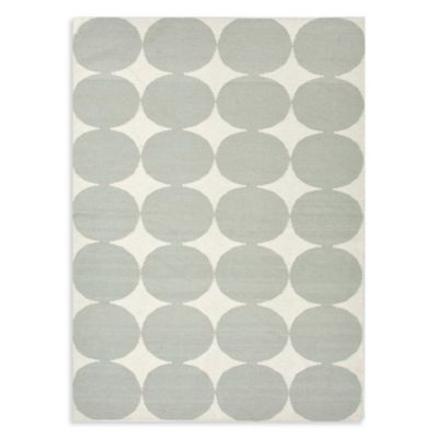Maroc Illyas Indoor Rug in White/Blue