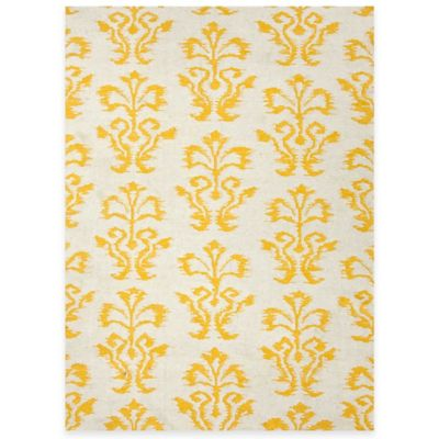 Jaipur White Khalid Reversible Floral 5-Foot x 8-Foot Indoor Rug