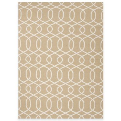 Jaipur Sabrine 2-Foot 6-Inch x 8-Foot Runner in Beige/White