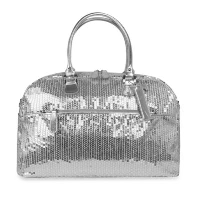 Trumpette Large Schleppbags Diaper Bag in Silver Sequin