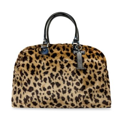 Trumpette Large Schleppbags Diaper Bag in Leopard Print Fur