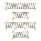 Sweet Jojo Designs Zig Zag Yellow and Grey Chevron 4-Piece Crib Bumper