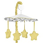 Sweet Jojo Designs Zig Zag Chevron Musical Mobile in Grey/Yellow