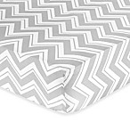 Sweet Jojo Designs Zig Zag Chevron Print Fitted Crib Sheet in Grey/Yellow