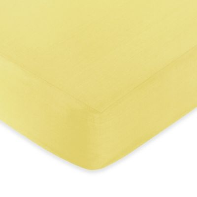 Sweet Jojo Designs Zig Zag Yellow and Grey Chevron Solid Yellow Fitted Crib Sheet