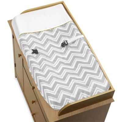 Sweet Jojo Designs Zig Zag Yellow and Grey Chevron Changing Pad Cover