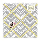 Sweet Jojo Designs Zig Zag Fabric Memo Board in Grey/Yellow