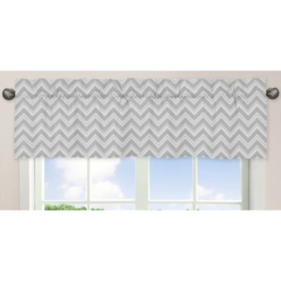 Sweet Jojo Designs Zig Zag Yellow and Grey Chevron Window Valance