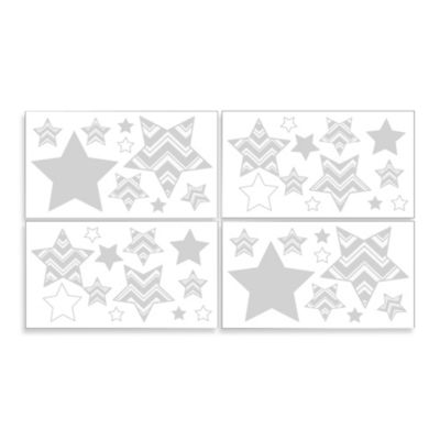 Sweet Jojo Designs Zig Zag Chevron Wall Decals in Grey/Yellow