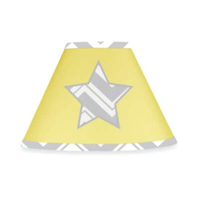 Sweet Jojo Designs Zig Zag Chevron Lamp Shade in Grey/Yellow