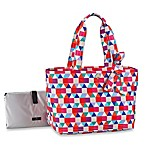 kate spade new york Tile Print Diaper Bag in Multi Print