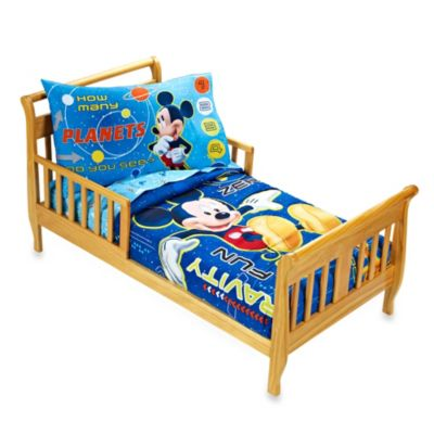 "Crown Crafts Disney® Mickey Mouse ""Space Adventure"" 4-Piece Toddler Set"