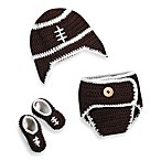 So'dorable Size 0-6 Months Crocheted Football Set in Brown